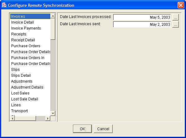 The Configure Remote Synchronization Window Also Shows Last Time Every Catalog Was Successfully Downloaded Or Received And Date Each